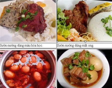 Cách phân biệt món ăn dùng phẩm màu hóa học 1