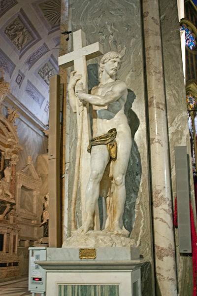 Tượng Cristo della Minerva, Rome, Italy: Bức tượng điêu khắc từ cẩm thạch của Michelangelo được hoàn tất năm 1521. Nằm ở nhà thờ Santa Maria sopra Minerva tại Rome, đây là một trong những tượng điêu khắc nổi tiếng nhất về Chúa Jesus từng tồn tại, dù kích cỡ của tượng tương đối nhỏ (chỉ cao 2,05 m) so với những bức tượng nổi tiếng khác.